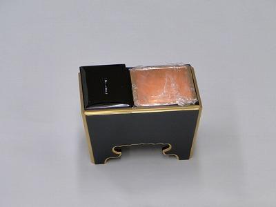 木質(黒面金)角香炉 5寸の画像