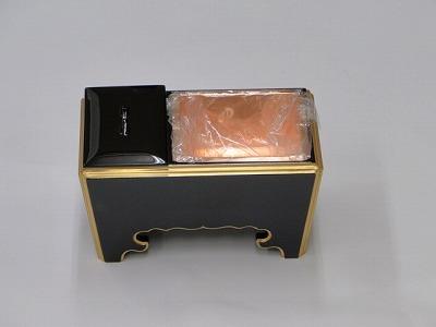 木質(黒面金)角香炉 6寸の画像