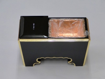 木質(黒面金)角香炉 7寸の画像