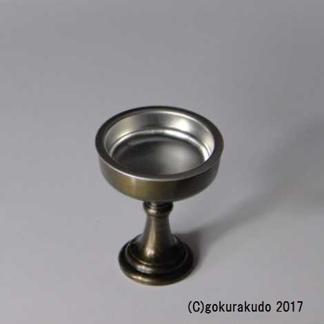 仏飯器・ブッキ(ご飯の入れ物)/真鍮製 色付き ナシ国光色 1.6寸(上級品) の画像