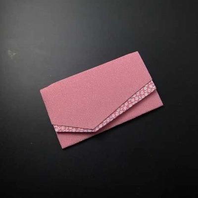 金封ふくさ(S印) 小桜 ピンク色 Hの画像