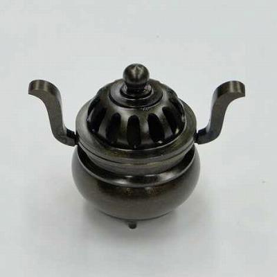 香炉・蓋付き香炉/玉香炉(獅子なし)色付き 3.5寸の画像