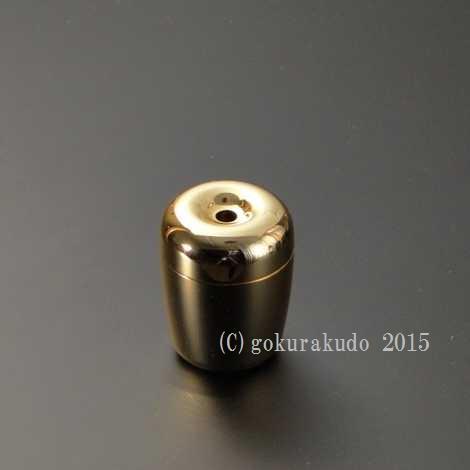 真鍮製 Tマッチ消し 本金メッキ の画像