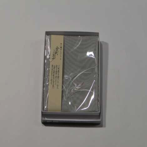 つづれ織金封入(ふくさ) 蘭 淡い緑の画像