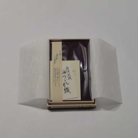 正絹紬(つむぎ)金封ふくさ 紫色の画像