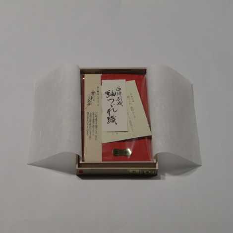 正絹紬(つむぎ)金封ふくさ 朱色の画像