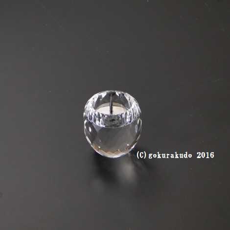 クリスタルガラス具足セットのローソク立てのみの画像