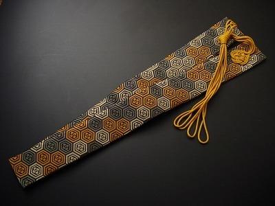 半袈裟(正絹)亀甲柄の画像