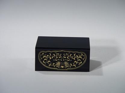四角仏像台 黒 3号(木質木地)の画像