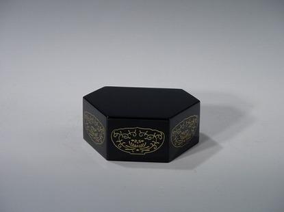 六角仏像台 黒 3号(木質木地)の画像