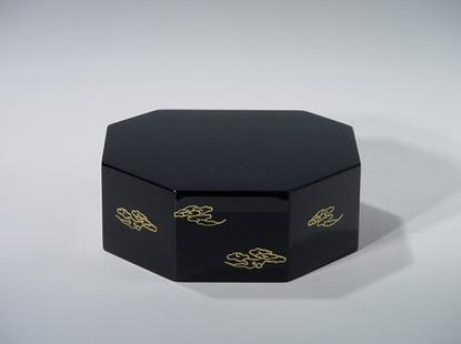 八角仏像台 黒 2号(木質木地) の画像