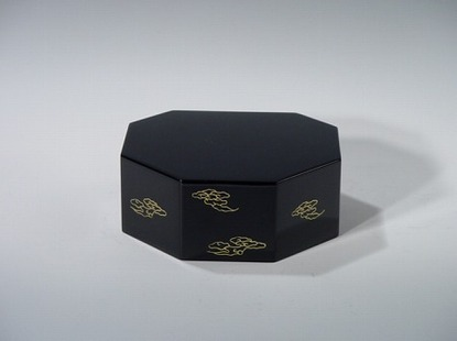 八角仏像台 黒 3号(木質木地) の画像