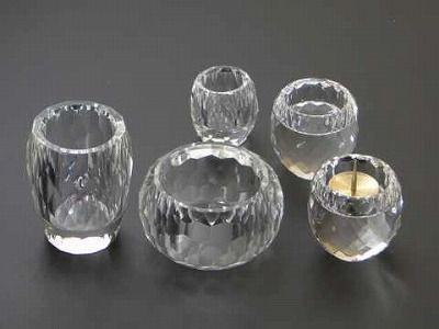 クリスタルガラス 具足5点セットの画像