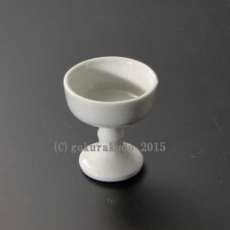 仏飯器・ブッキ(ご飯の入れ物)陶器製 白(中) の画像