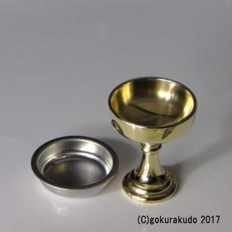 仏飯器・ブッキ(ご飯の入れ物)/真鍮製 みがき 1.6寸(上級品) の画像