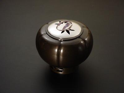 唐金煮色丸木瓜香炉(床香炉)の画像