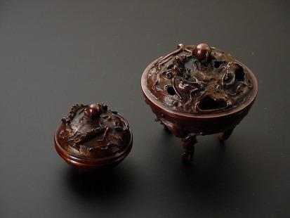 床香炉・玄関香炉【雨龍】(香合附き)の画像
