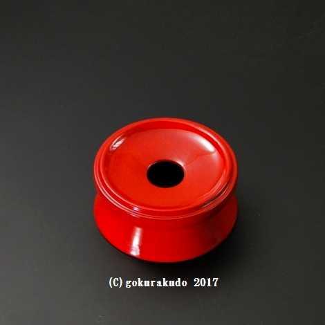 りん台/丸輪台(木製) 朱 3.5寸の画像