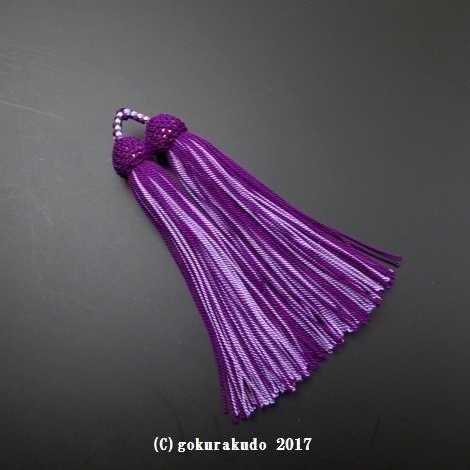 正絹頭付き房軸付き(c12 紫+藤)2.5匁の画像