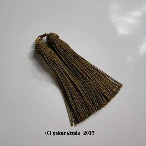 正絹頭付き房軸付き(29番、 利休色)2.5匁の画像