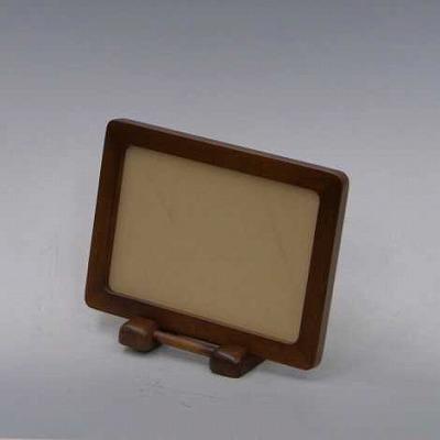 写真立 木製枠 ライトブラウン色(L判用)の画像