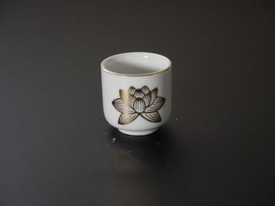 湯飲み・茶湯器/蓮絵柄1.4寸 sの画像