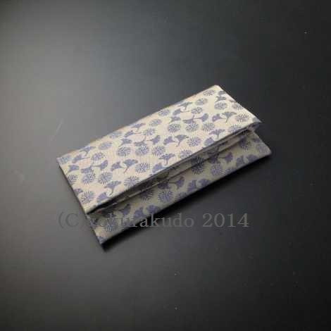 数珠入れ 正絹 名物裂 銀杏唐松(グレー系)Hの画像