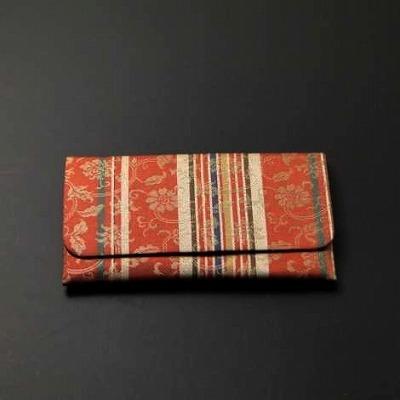 正絹古代裂数珠入れ(S印)東山裂の画像