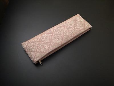 古渡り緞子半袈裟入れ 10.菱鳳凰・ピンクの画像