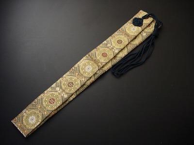 半袈裟(正絹)半袈裟(正絹)緑地に金茶系色 緑紐 の画像