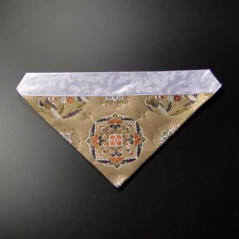 三角打敷 正絹 100代 金茶系色1-Hの画像