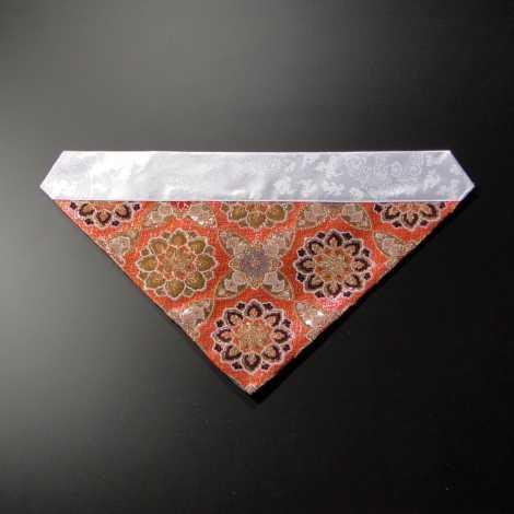 三角打敷 正絹 100代 朱系色1-Hの画像