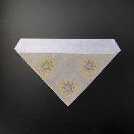 三角打敷 夏用 紗 70代 白地1-Hの画像