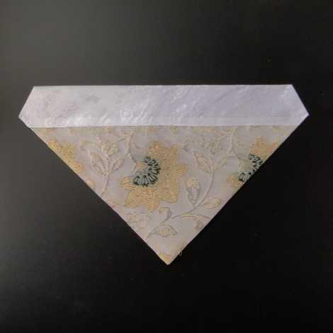 三角打敷 夏用 紗 50代 白地1-Hの画像