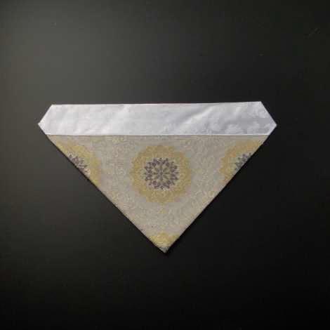 三角打敷 紗(夏用)50代 白地 3-Hの画像