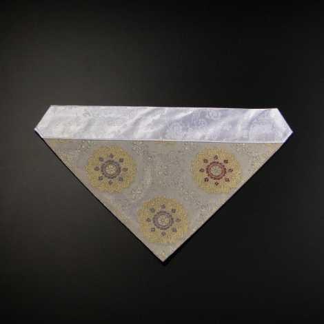 三角打敷 紗(夏用)70代 白地 1-Hの2の画像