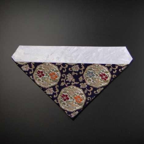 三角打敷き(金襴の布)70代 正絹 紺地その2-Hの画像