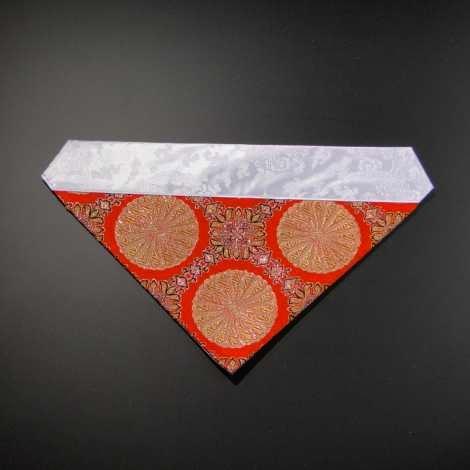三角打敷き(金襴の布)70代 正絹 朱地その1-Hの画像