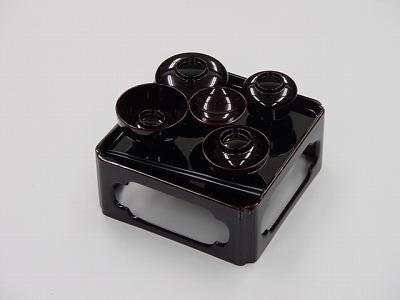 上質プラスチック製 御膳 (溜)6.0寸の画像