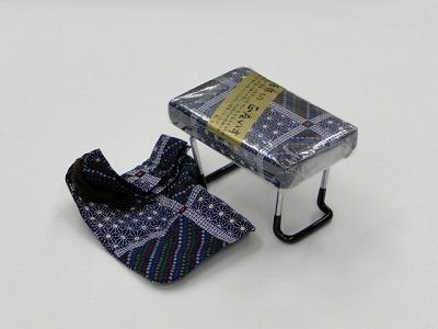 らくらく椅子(小) [紺、市松柄](袋付き) sの画像