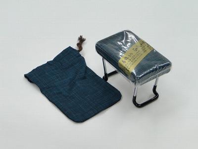 らくらく椅子(小) [紺、かすり調](袋付き) sの画像