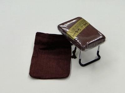 らくらく椅子(小) [エンジ、かすり調](袋付き) sの画像