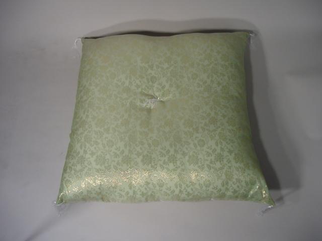 仏前座布団 紗生地 (夏用布団)うすい緑色 sの画像