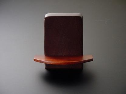家具調向け見台(過去帳の台)ブラウン色(無垢材)  sの画像