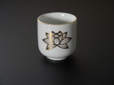 湯飲み・茶湯器/蓮絵柄1.8寸 sの画像