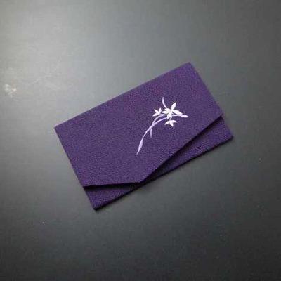 金封ふくさ(S印) 蘭 紫色-Hの画像