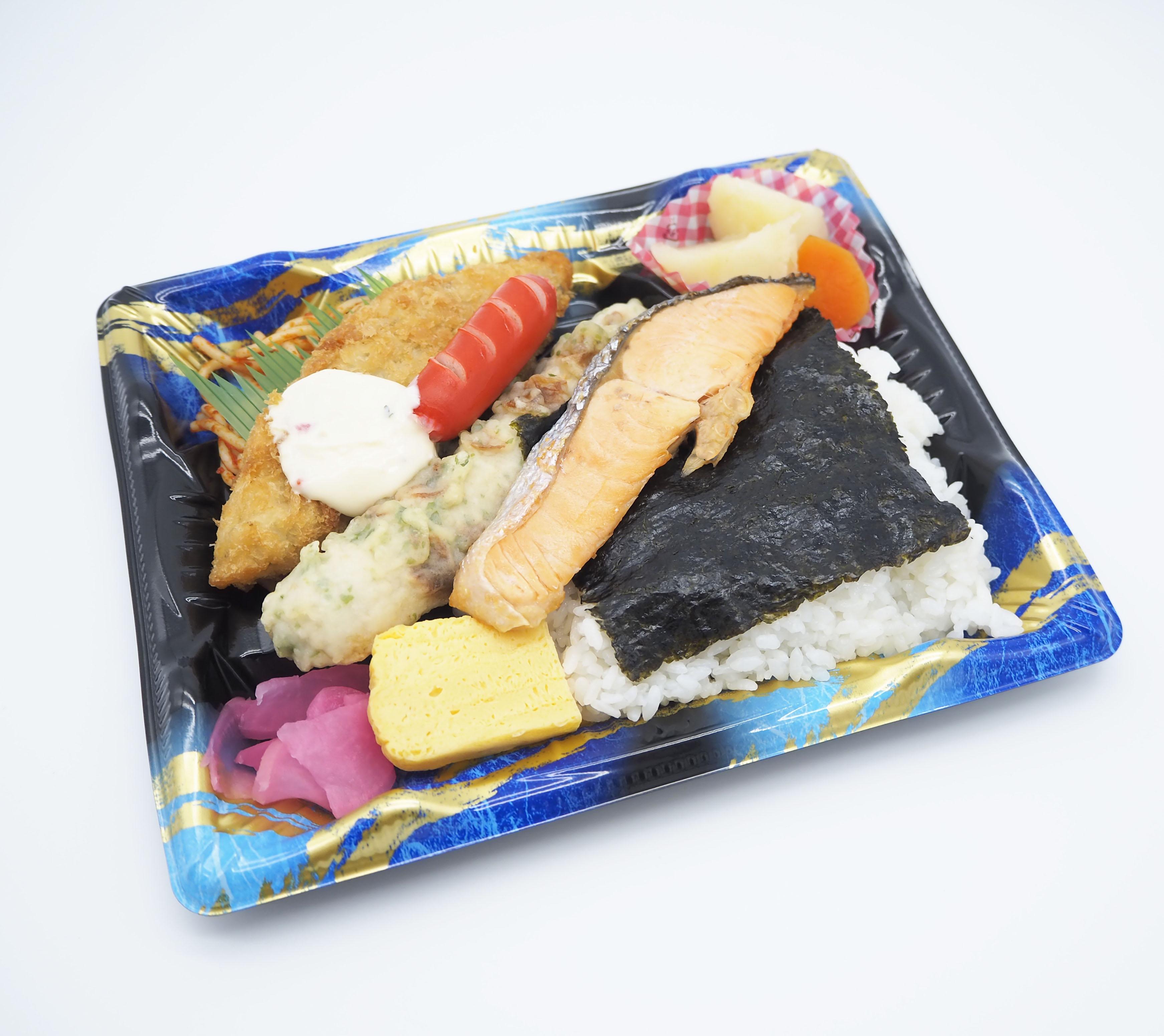 【前々日午前中まで注文受付】高浜市 ごはんの里エザカさんの『海苔さけ弁当』画像