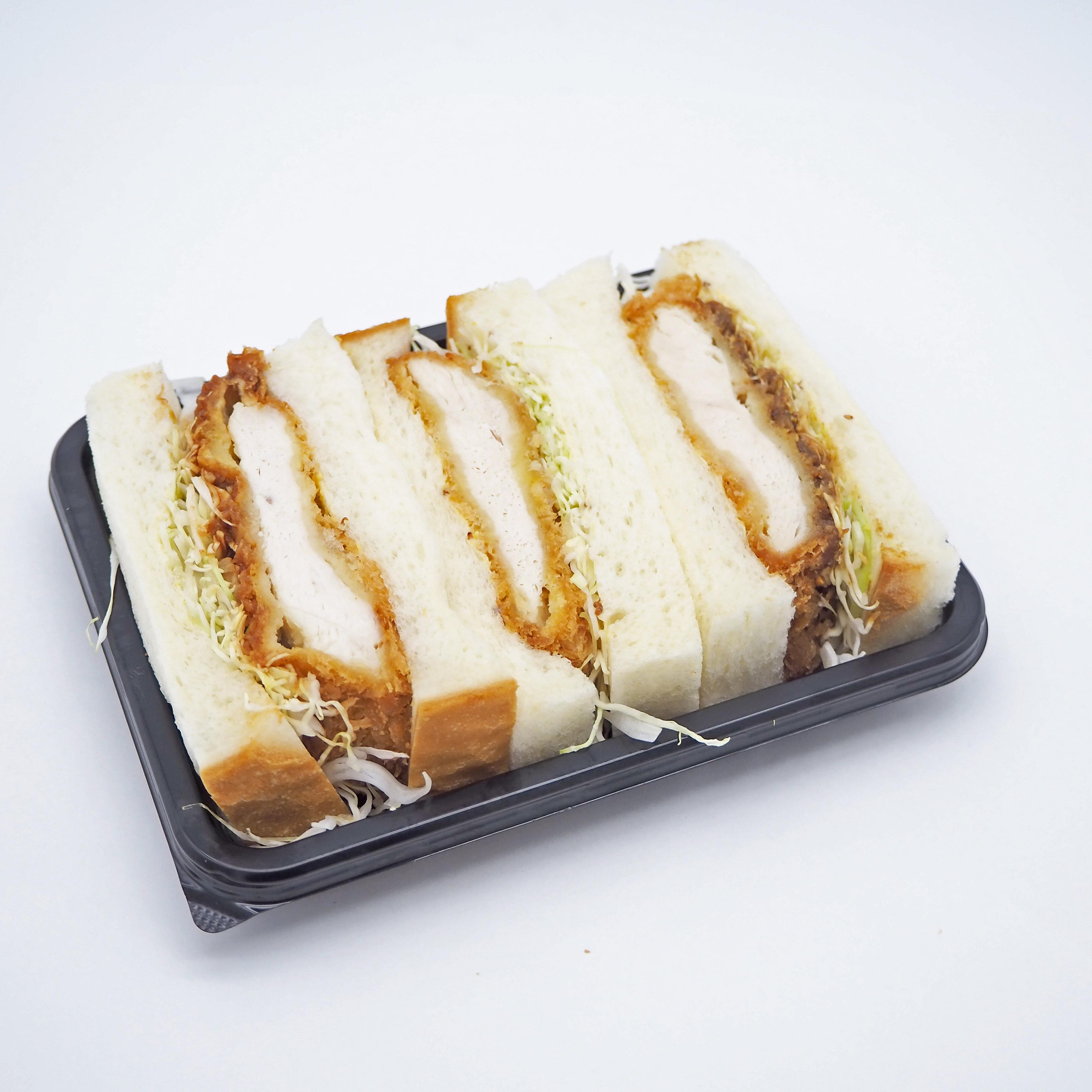 3種のチキンカツサンド(塩/味噌/ソース)画像