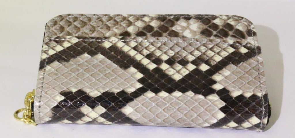 ニシキヘビ革 小銭入れの画像