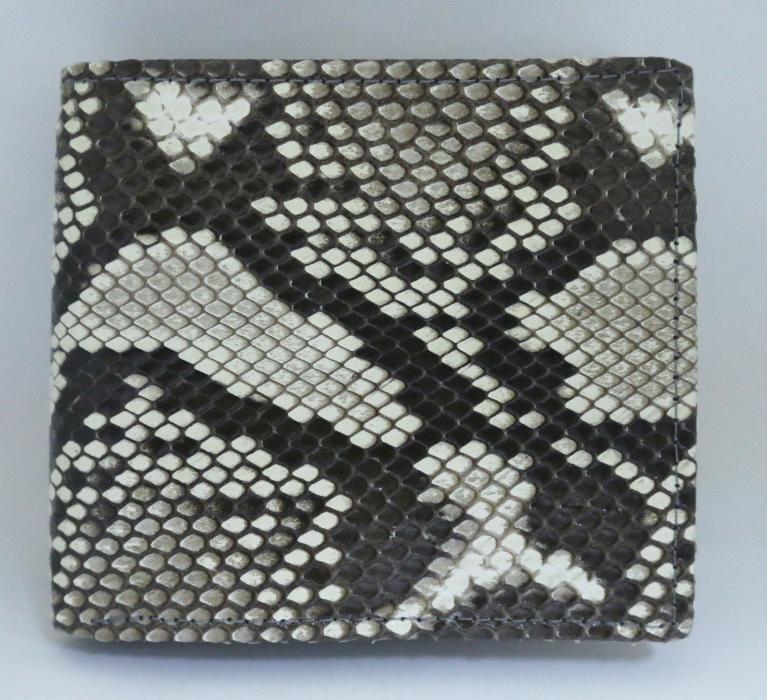 ニシキヘビ革 2つ折りの画像
